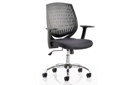 Dynamic Dura Task Operator Chair Black With Arms