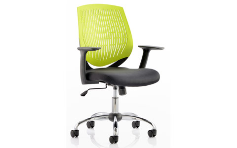 Dynamic Dura Task Operator Chair Green With Arms