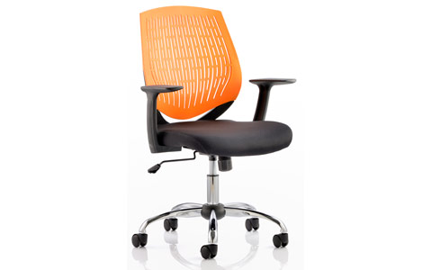 Dynamic Dura Task Operator Chair Orange With Arms
