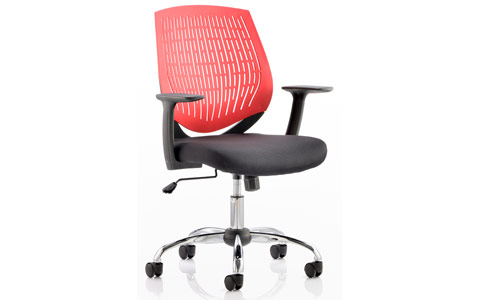 Dynamic Dura Task Operator Chair Red With Arms