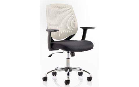 Dynamic Dura Task Operator Chair White With Arms
