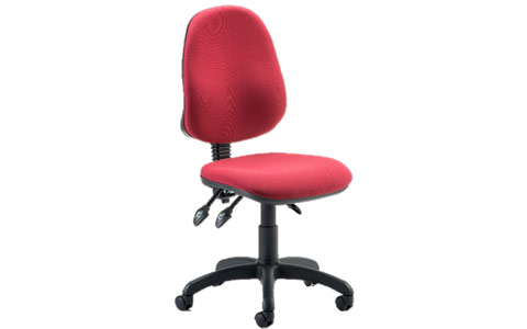 Dynamic Eclipse III Lever Task Operator Chair Wine