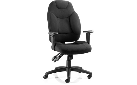 Dynamic Galaxy Task Operator Chair Black Fabric With Arms