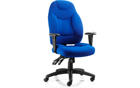 Dynamic Galaxy Task Operator Chair Blue Fabric With Arms
