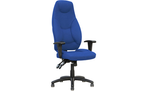 Dynamic Galaxy Task Operator Chair Blue Fabric High Back With Arms