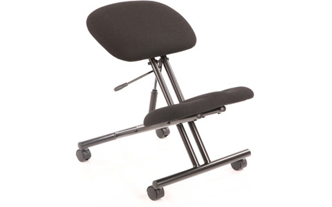 Dynamic Kneeling Stool Task Operator Black Fabric Black Frame