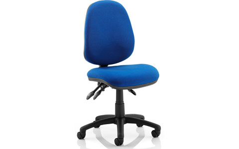 Dynamic Luna III Lever Task Operator Chair Blue