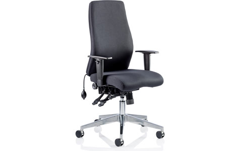Dynamic Onyx Ergo Posture Chair Black Fabric Without Headrest With Arms