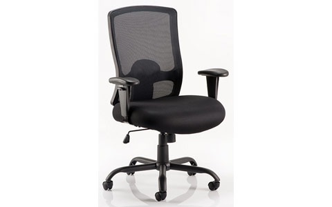 Dynamic Portland HD Task Operator Chair Black Mesh With Arms