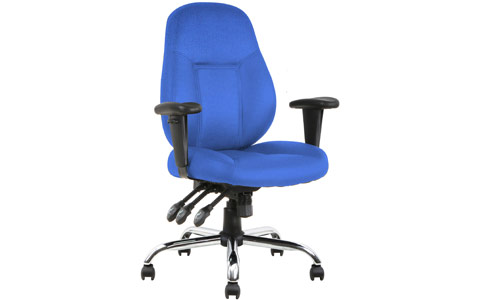 Dynamic Storm Task Operator Chair Blue Fabric With Arms