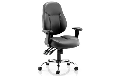Dynamic Storm Task Operator Chair Black Bonded Leather With Arms