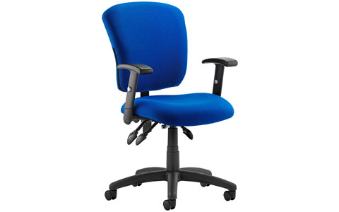 Dynamic Toledo Task Operator Chair Blue Fabric With Arms