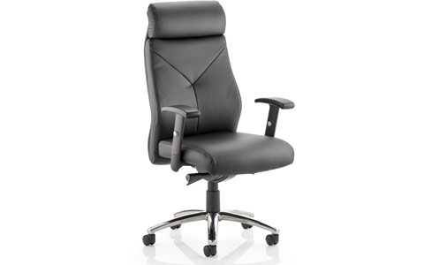 Dynamic Troy Task Operator Chair Black Bonded Leather With Arms