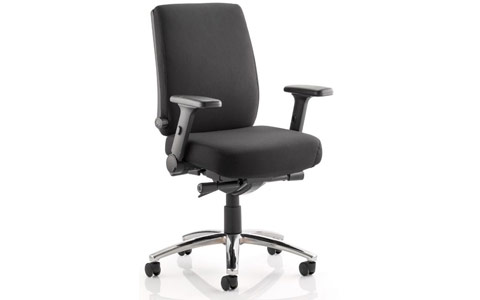 Dynamic Velocity Task Operator Chair Black Fabric With Arms
