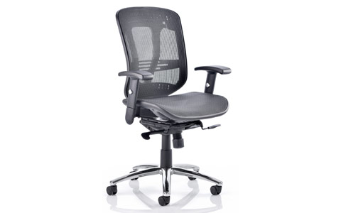Dynamic Mirage Executive Chair Black Mesh With Arms Without Headrest