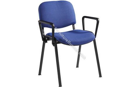 DAMS Taurus Black Frame Meeting Chair with Arms - 4 pack