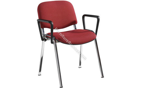 DAMS Taurus Chrome Frame Meeting Chair with Arms - 4 pack