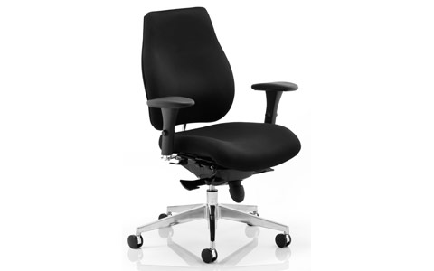 Dynamic Chiro Plus Ergo Posture Chair Black With Arms