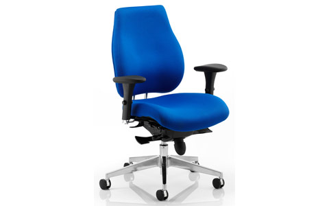 Dynamic Chiro Plus Ergo Posture Chair Blue With Arms