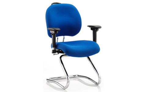 Dynamic Chiro Plus Cantilever Chair Blue With Arms