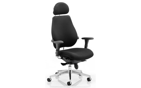 Dynamic Chiro Plus Ultimate Black With Arms With Headrest