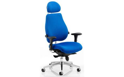 Dynamic Chiro Plus Ultimate Blue With Arms With Headrest