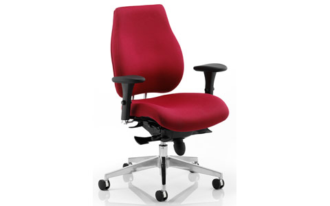 Dynamic Chiro Plus Ergo Posture Chair Wine With Arms