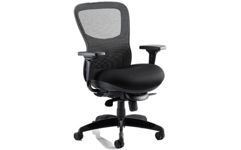 Dynamic Stealth Ergo Posture Chair Black Airmesh Seat And Mesh Back With Arms