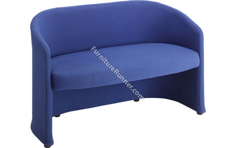 DAMS Slender Double Seat Square Reception Sofa