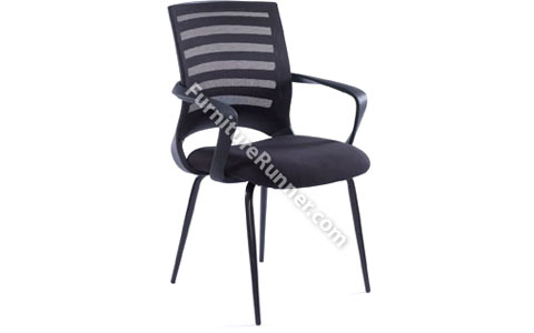 DAMS VEGA - Mesh Back Vistor Chair with Fabric Seat