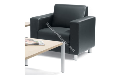 Avior Leather Reception Armchair