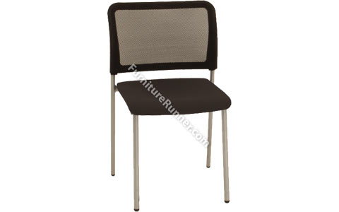 Gresham Black Mesh Stackable Chair