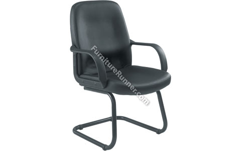 Jemini Leather Look Visitors Chair