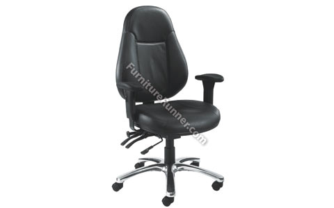 Avior 24 Hour Leather High Back Operator Chair
