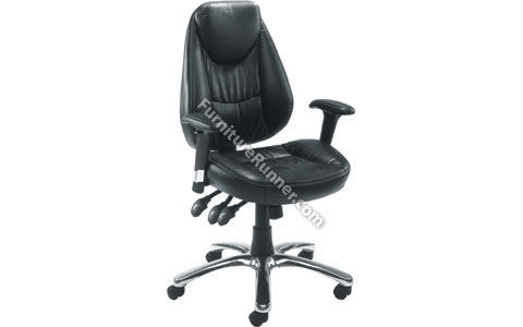 Arista High Back Leather Look Operator Chair