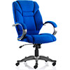 Dynamic Galloway Executive Chair Blue Fabric With Arms