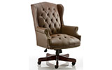 Dynamic Commodore Executive Chair Brown Leather With Arms