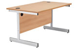 Jemini Rectangular Workstation - Cantilever Frame