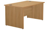 Jemini Rectangular Workstation - Panel End