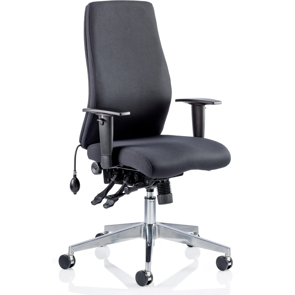 dynamic onyx ergo posture chair black fabric without