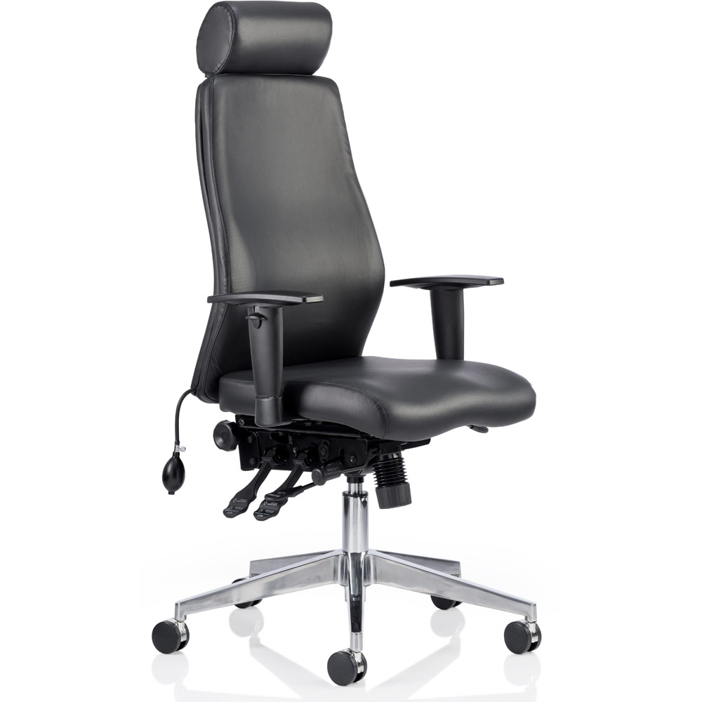 Dynamic Sitemap: Dynamic Onyx Ergo Posture Chair Black Bonded Leather With